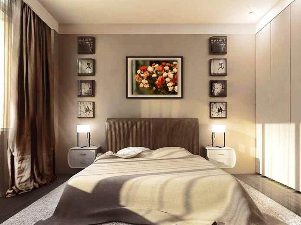 Интерьер спальни 12 кв.м в панельном доме фото