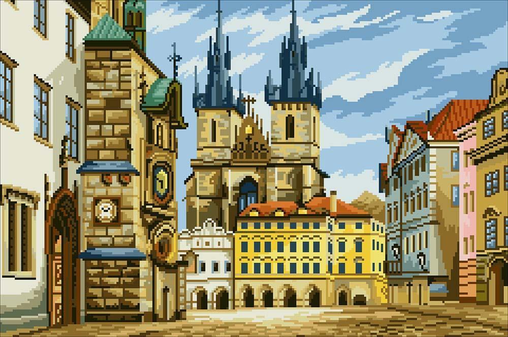 Прага вышивка крестом схема 96