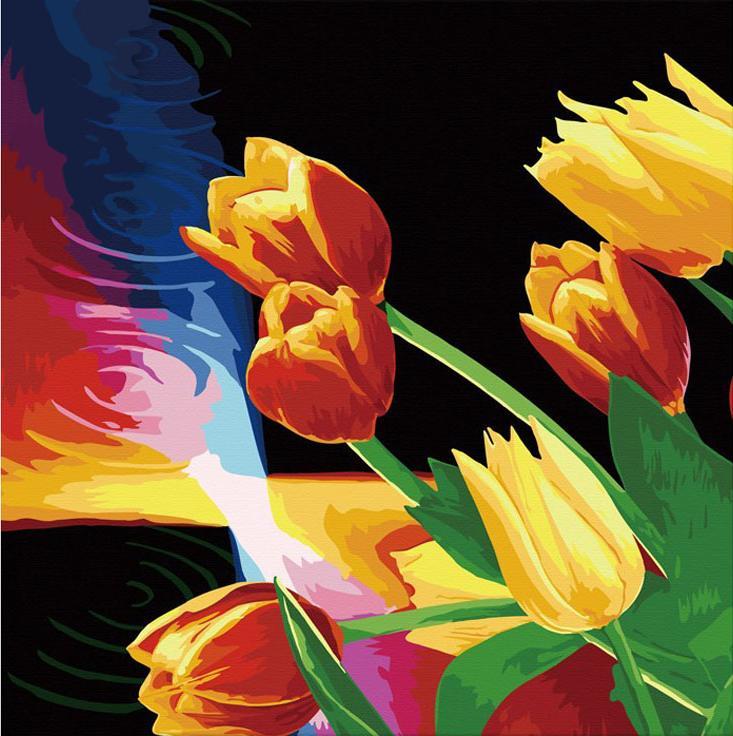 Раскраски по номерам тюльпаны купить