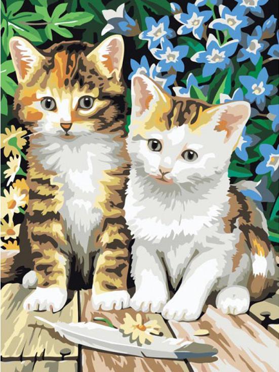 Рисуем по номерам котята