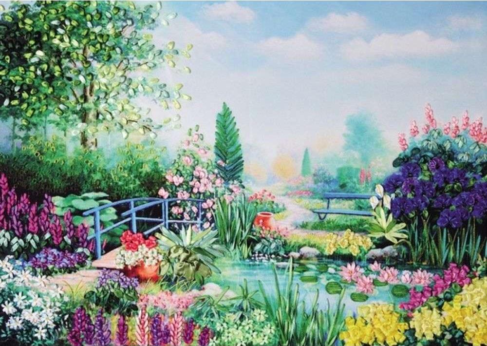 Вышивка лентами картины пейзажи 95
