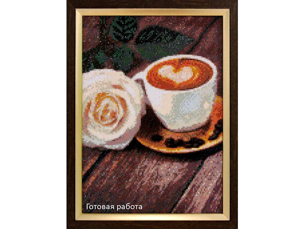 Алмазная вышивка кофейная тема 43
