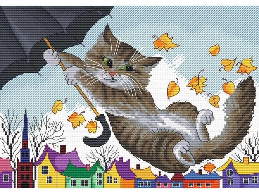 Схемы вышивки художник кот 71