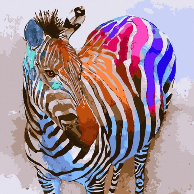 Colorful zebra print tattoos