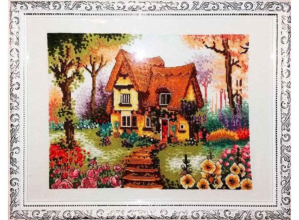 Сказочные домики вышивка схема 207