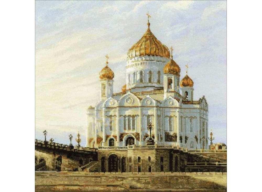 Вышивка риолис храм христа спасителя 56