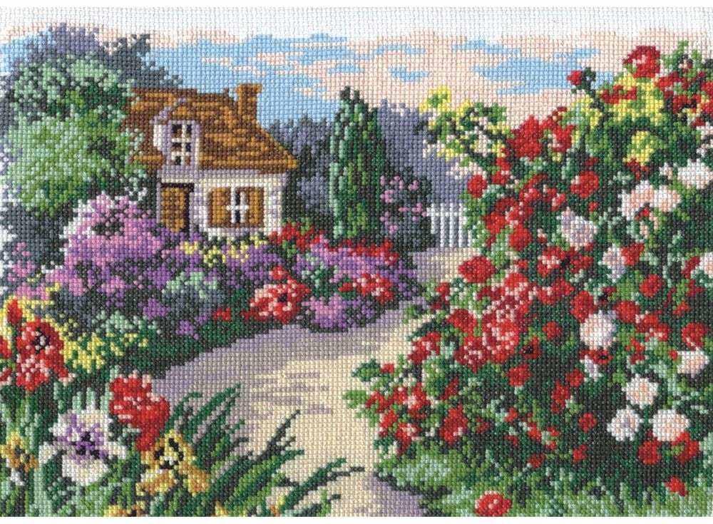 Вышивание крестом сад