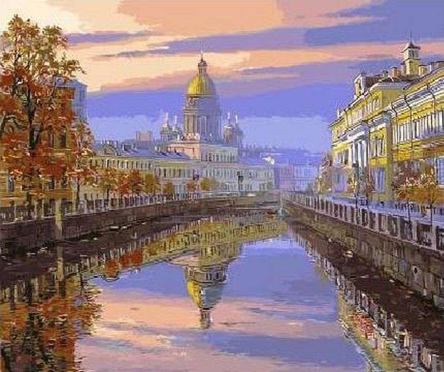 картины виды петербурга купить дешево тает, словно лёд