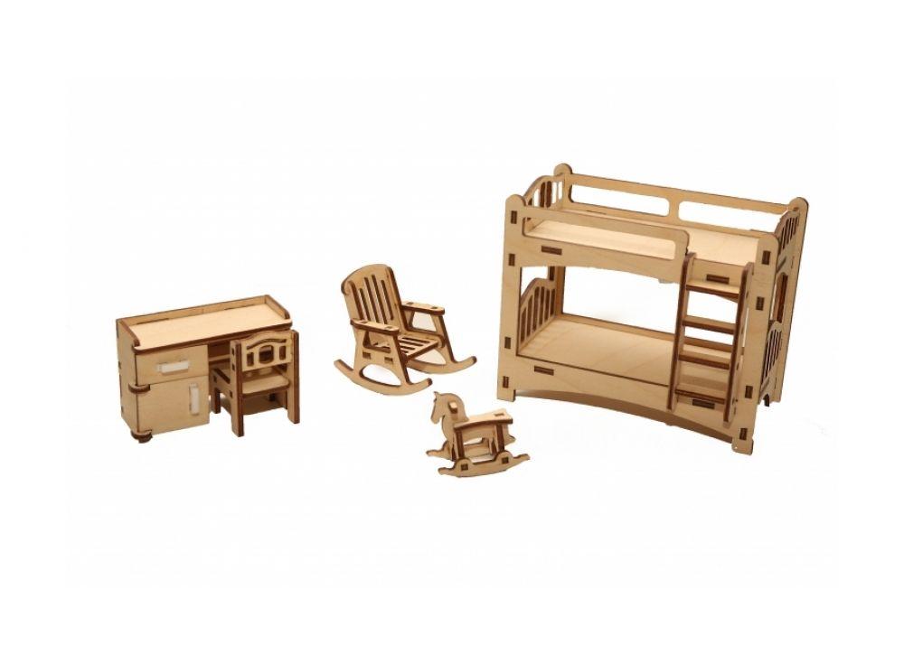 Детская мебель для кукол из дерева