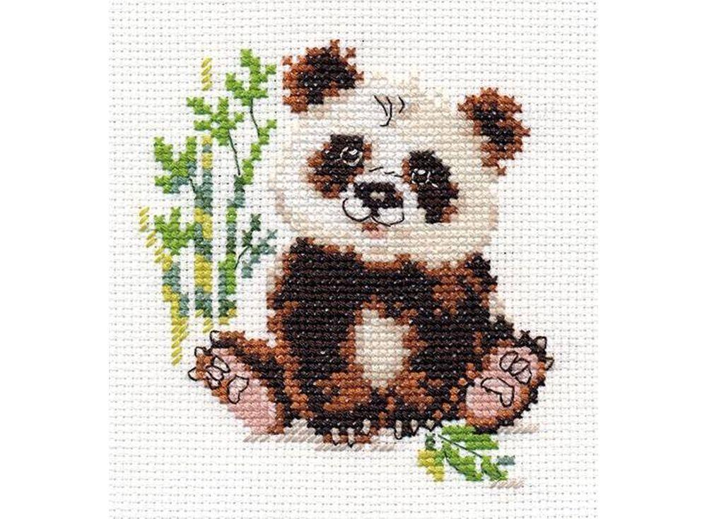 Вышивка крестиком панды 6