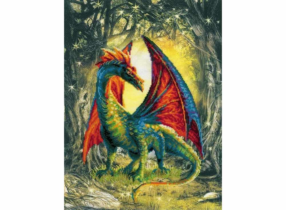 Картинки вышивок дракон