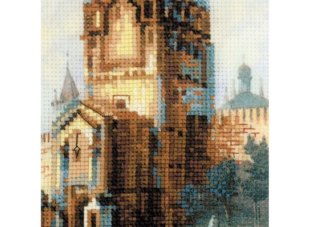 Вышивка крестом город набор 45