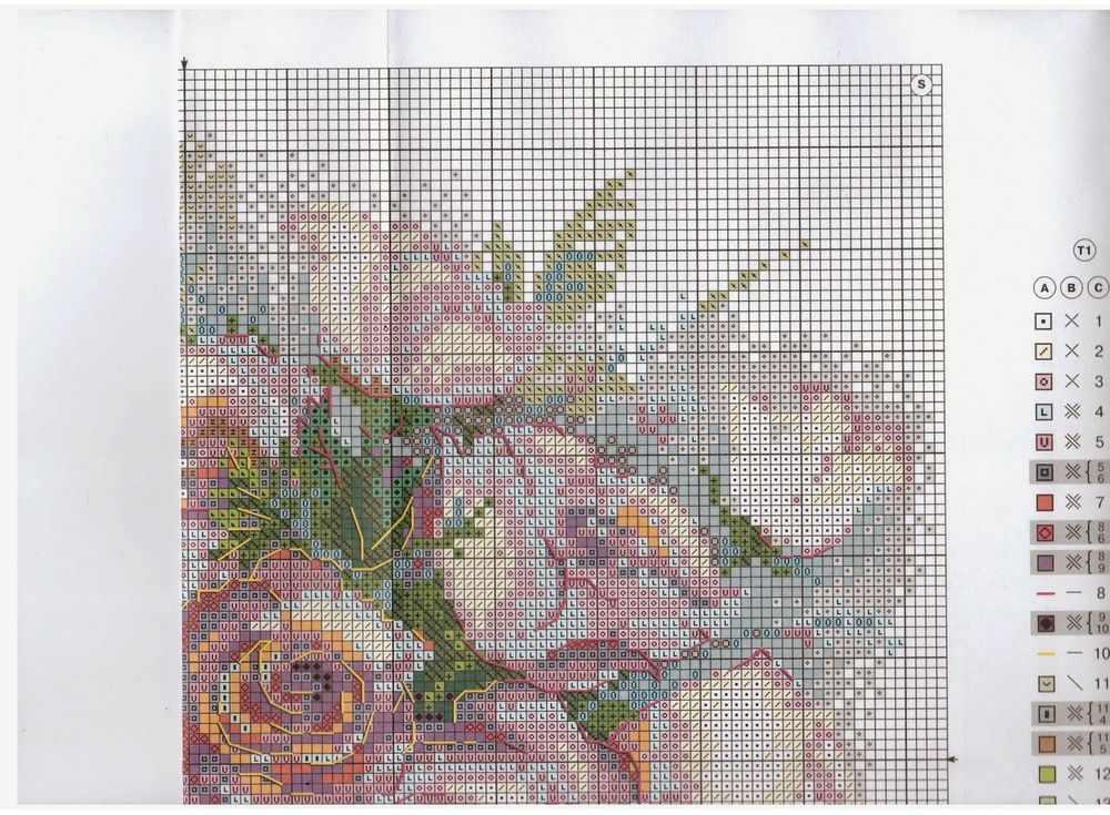 Схема вышивки картин с розами 585