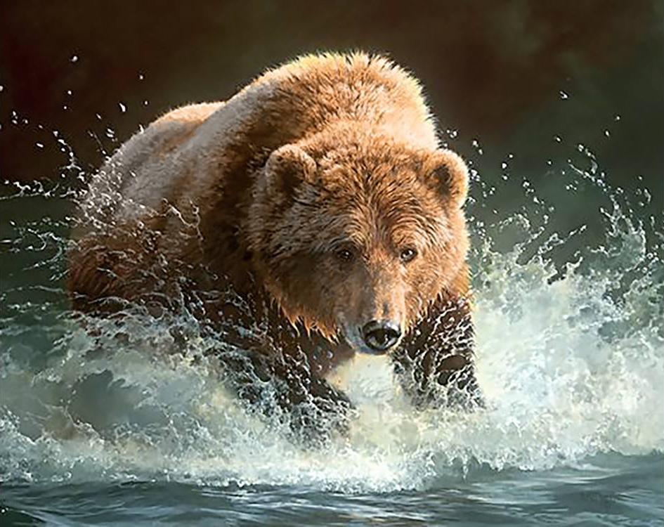 Алмазная вышивка с медведями