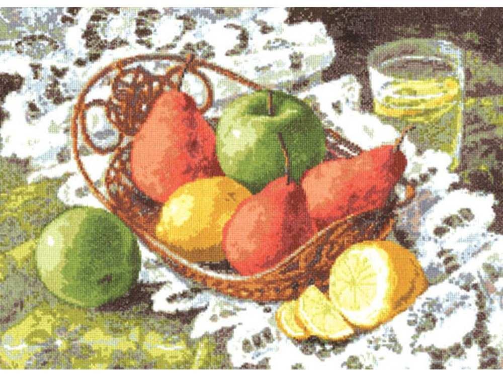 Вышивка натюрморт с грушами