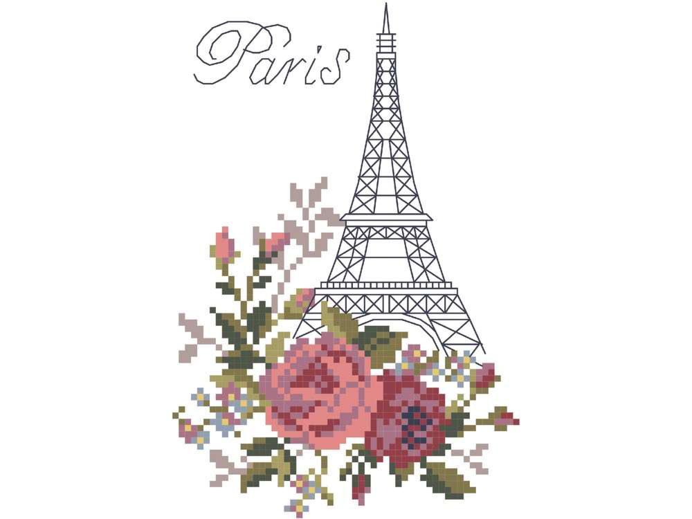 Париж вышивка крестом новинки