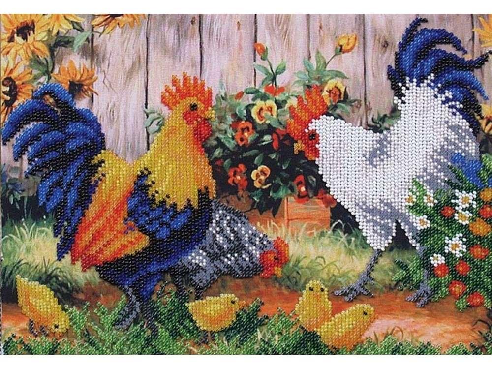 Птичий двор схема для вышивки