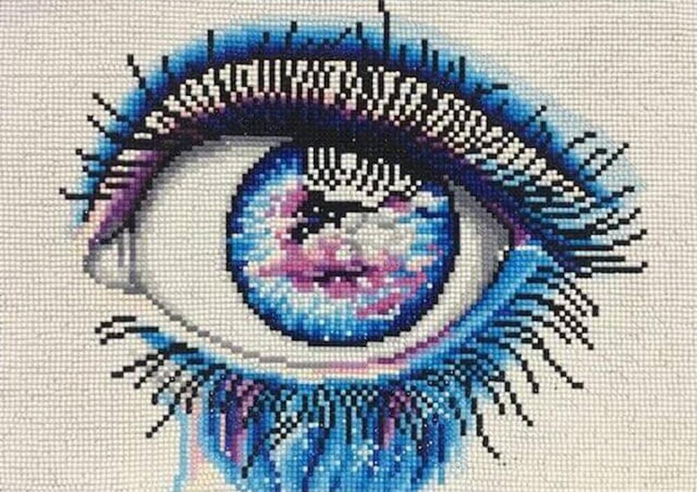Вышивка мозаикой цветной 3