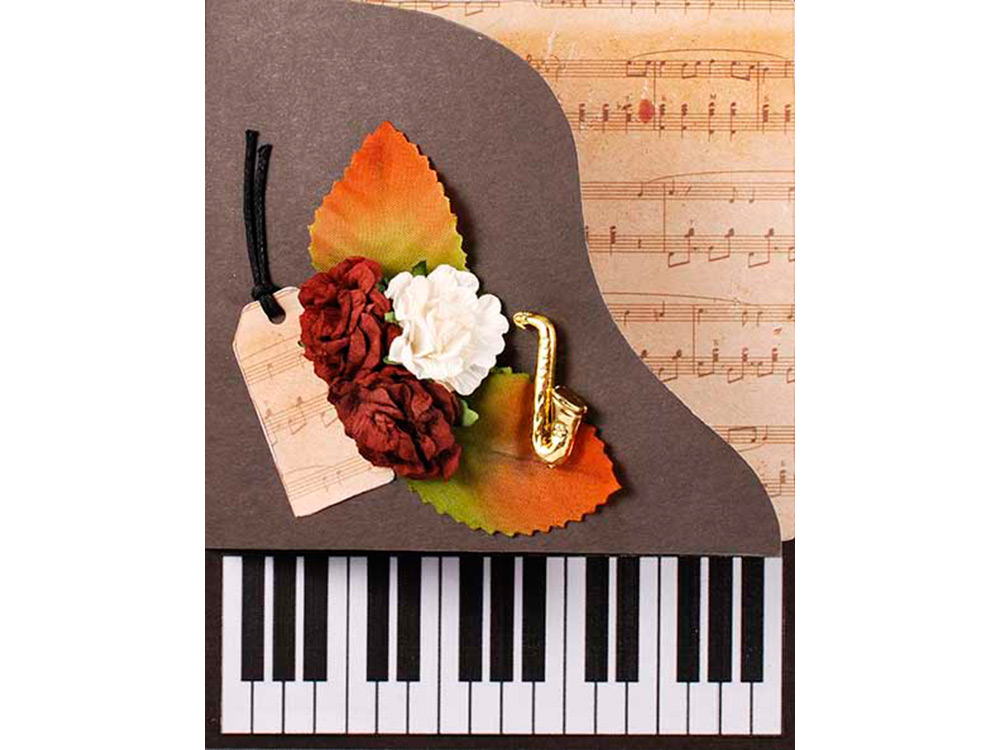 открытка в форме пианино