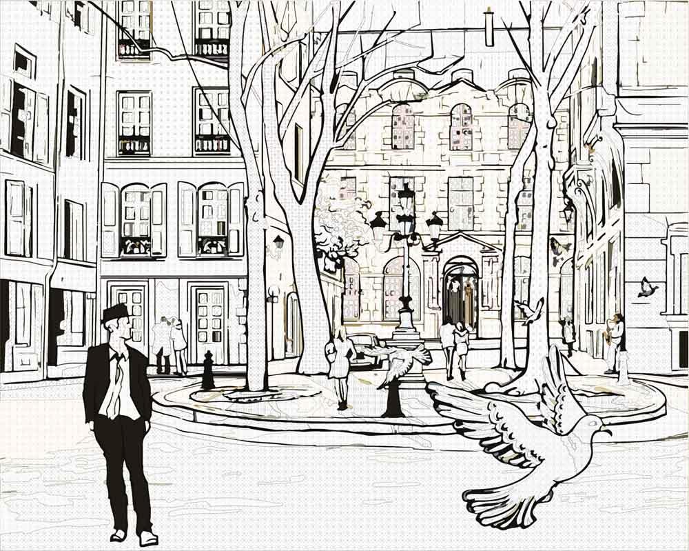 Картинки улицы города для срисовки