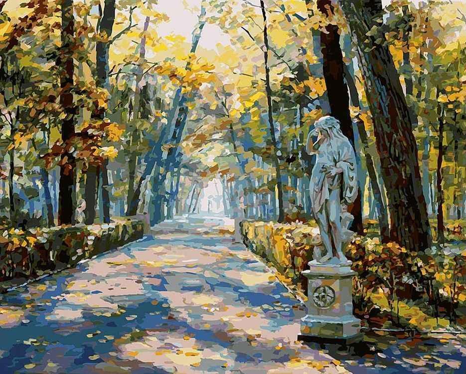 Рисунок летний сад санкт-петербург жёлтые цветы