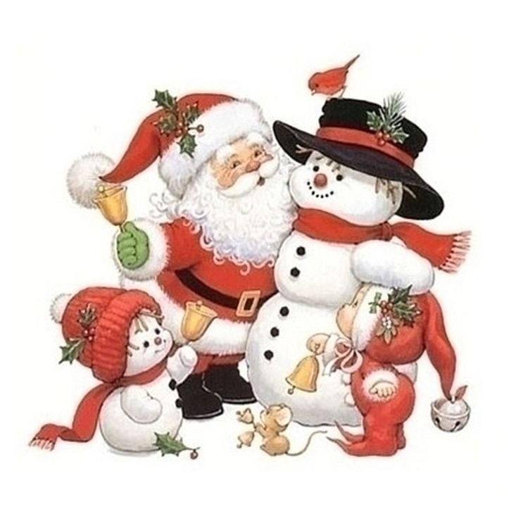 Картинки, дед мороз и снеговик открытки