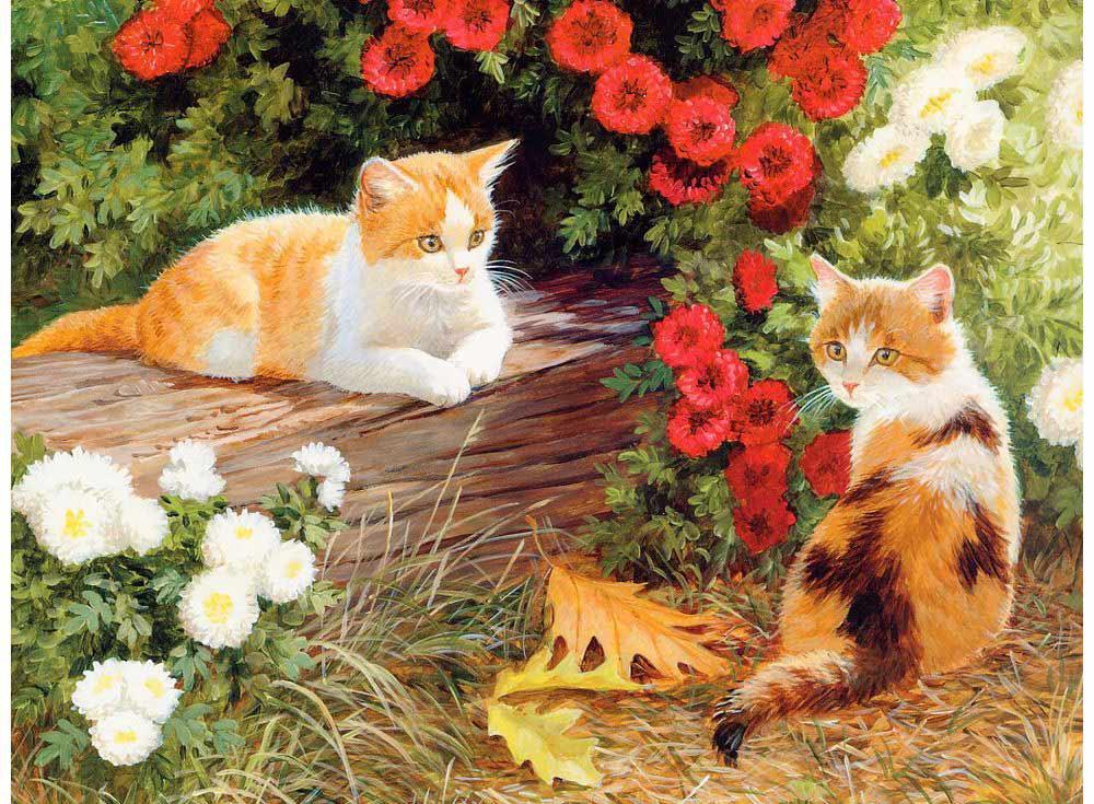 Открытка с двумя котятами, нарисовать новогодние открытки