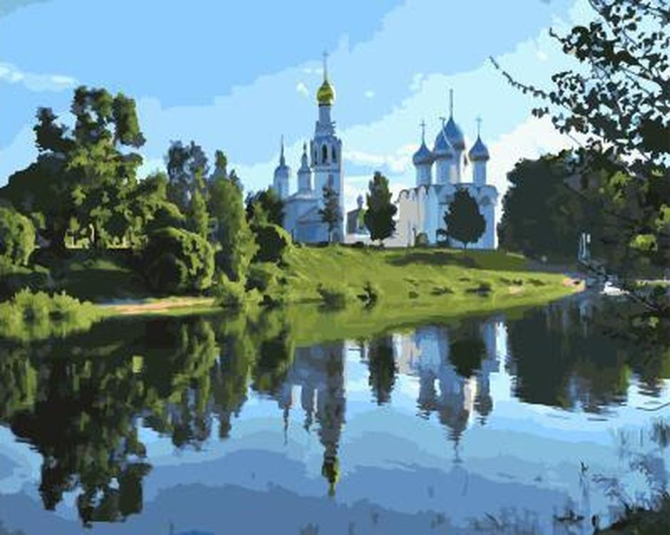 Картина по номерам «Софийский собор в Вологде» GX21073 ...