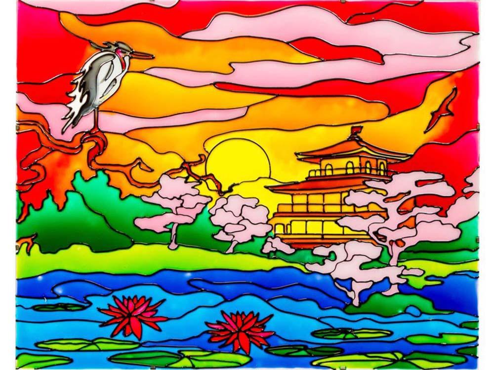 картинки для витраж японские третье воскресенье