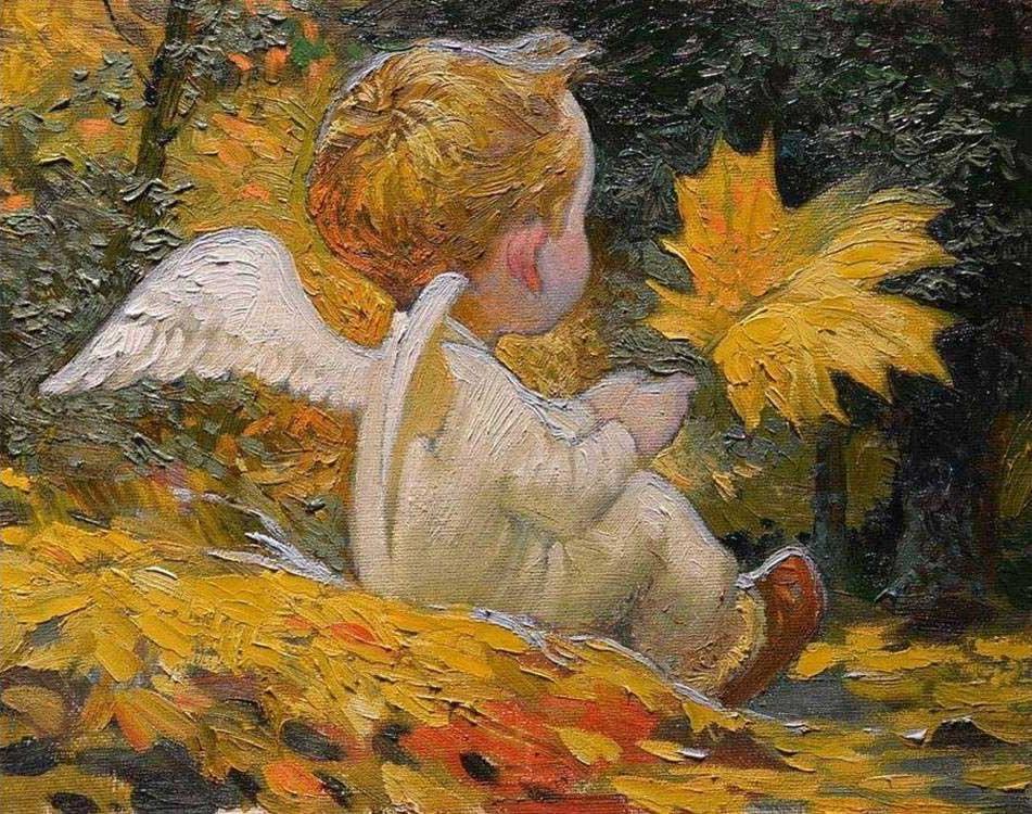 Картинка осеннего ангела