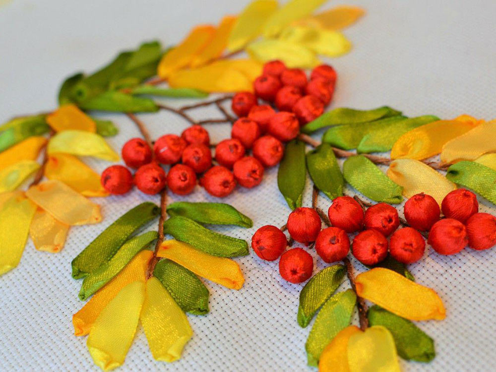 Осенняя веточка своими руками