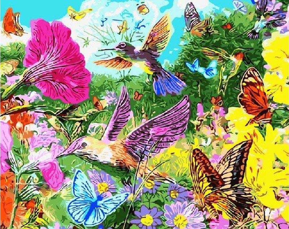 Картина по номерам бабочки