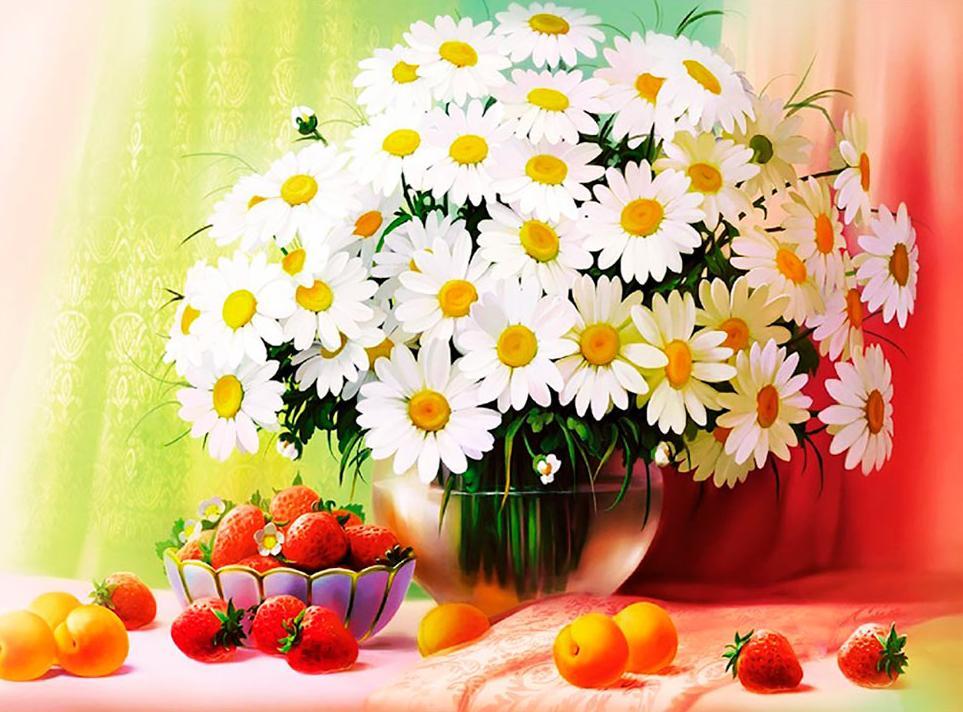 Открытка цветы ромашка, картинки