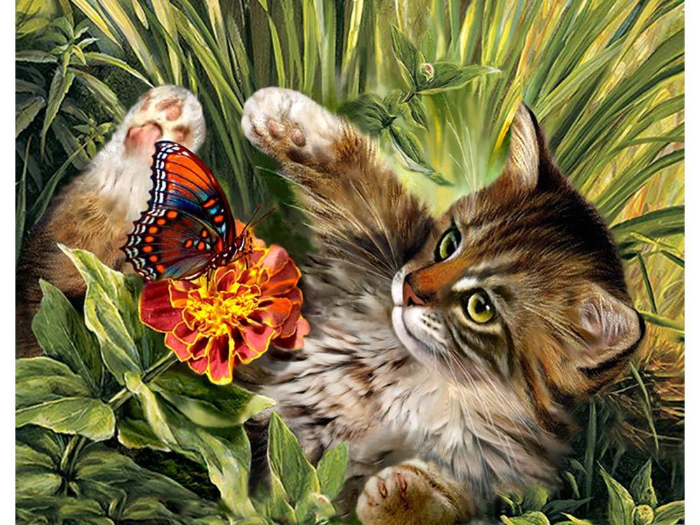 Открытки с цветами и зверями