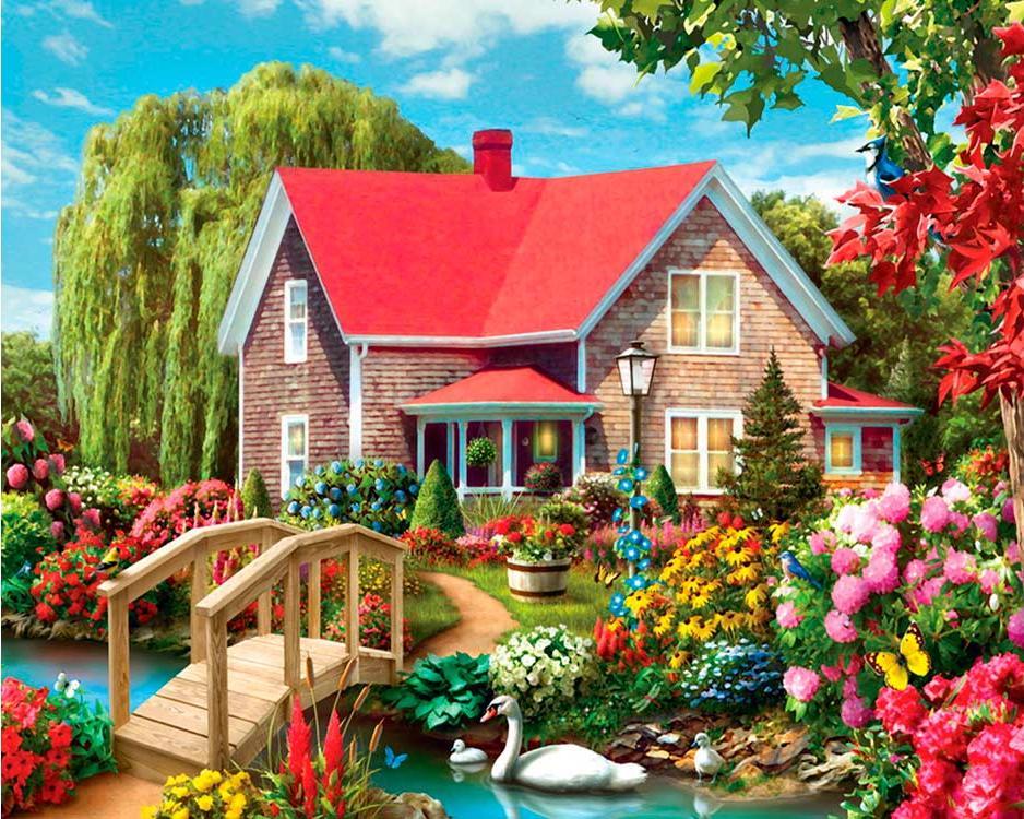 Открытки с садом, марту маме своими