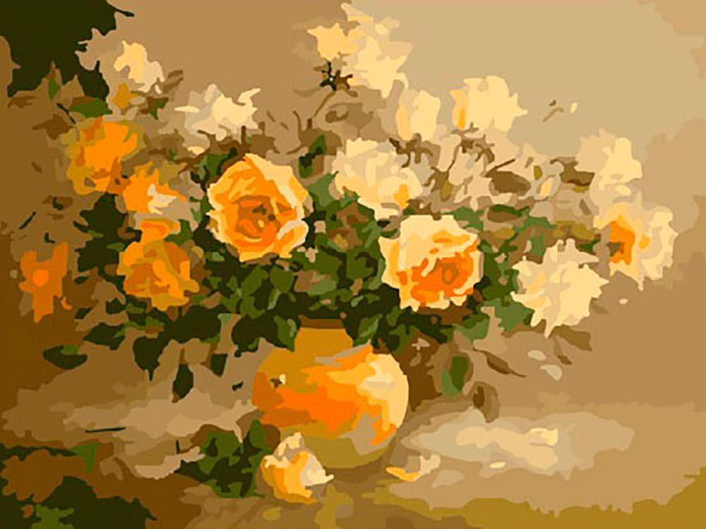 Букет персиковых роз раскраска hobbart