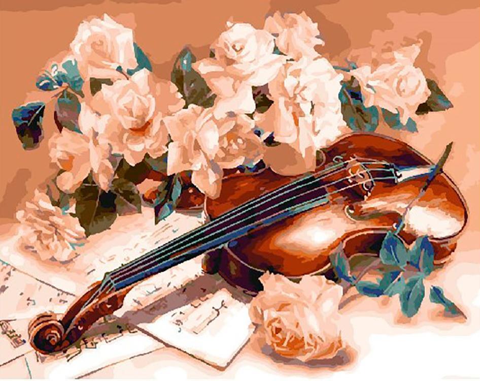 С открытка с музыкой, девочке лет днем