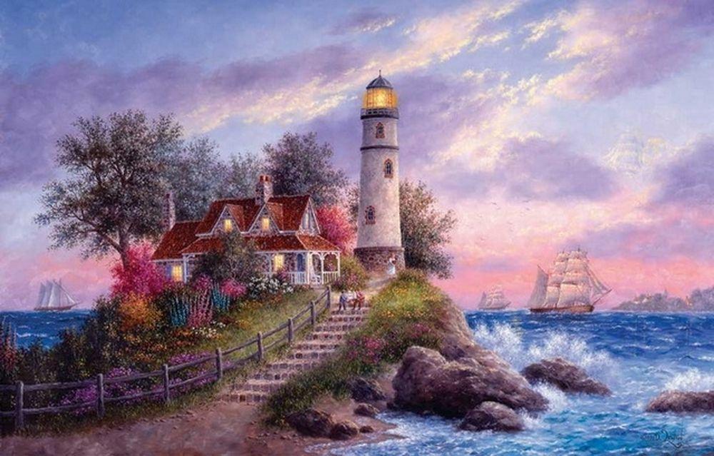 Красивые маяки рисунки